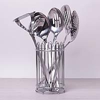 Набор кухонных принадлежностей Kamille 6 предметов в комплекте с подставкой 5232