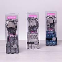Набор столовых приборов Kamille 24 пр. из нержавеющей стали с пластиковыми ручками 5243