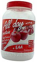 All Day Protein уникальное сочетание сывороточного белкового концентрата с экзогенными аминокислотами
