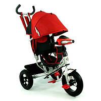 Трехколесный велосипед с надувными колесами Best Trike 6588B ФАРА красный
