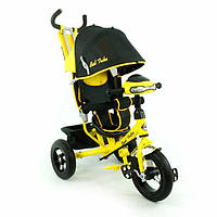 Трехколесный велосипед с надувными колесами Best Trike 6588B ФАРА желтый