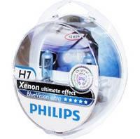 Автомобильная галогенная лампа Philips Xenon Blue Vision Ultra H7 12V 55 W (производство Philips, Китай)