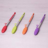 Щипцы силиконовые 30.5см с ручками из нержавеющей стали Kamille 7512