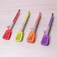 Щипцы-лопатки силиконовые 30.5см с ручками из нержавеющей стали Kamille 7517