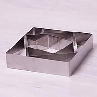 Набор из 3 квадратных форм Kamille для выкладки/вырубки 10*10/15*15/20*20см 7775