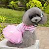 """Платье для собаки, кошки  """"Тельняшка с бантиками"""". Одежда для животных, фото 3"""