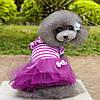 """Платье для собаки, кошки  """"Тельняшка с бантиками"""". Одежда для животных, фото 2"""
