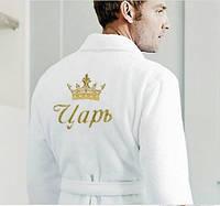 Вышивка логотипов и текста на махровых изделиях