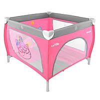 Детский манеж CARRELLO Grande CRL-7401 Grey+Pink
