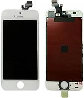 Дисплей (экран) для Apple iPhone 5 + с сенсором (тачскрином) белый Original