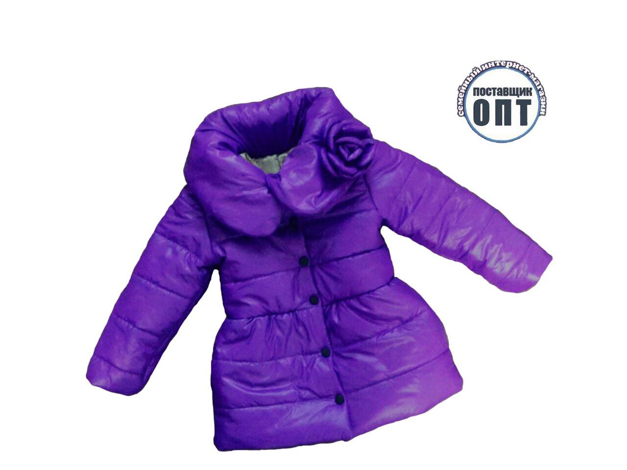 Демисезонное пальто цветок для девочки