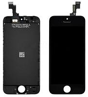 Дисплей (экран) для Apple iPhone 5S/SE + с сенсором (тачскрином) черный Original