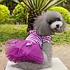 """Платье для собаки, кошки  """"Тельняшка с бантиками"""". Одежда для животных, фото 4"""
