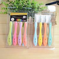 Крючки для вязания (мягкий пластик + металл) упаковка 8 шт., размер от 2.5 мм до 6 мм