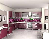 Стеклянная рабочая стенка для кухни