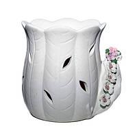 """Аромалампа """"Белый цветок"""" - Размеры: 9-11-6 см"""