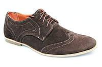 Туфли мужские замшевые коричневые TOP-HOLE (топ-хол)