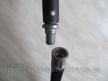 Щетка-ершик для чистки дымохода ф400 мм пластиковая под резьбу, фото 2