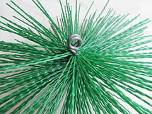 Щетка-ершик для чистки дымохода ф400 мм пластиковая под резьбу, фото 3