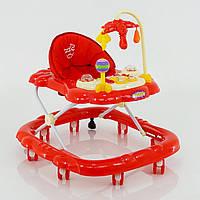 Детские ходунки музыкальные модель D28 (красный)