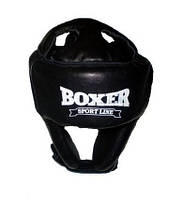 Шлем Боксерский  к\з (черный,красный)