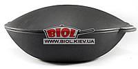 Чугунная сковорода ВОК (WOK) 40см 8л с крышкой-сковородой садж ЭКОЛИТ (Украина)