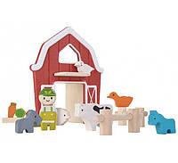 Деревянный игровой набор Plan Тoys Ферма (6618)