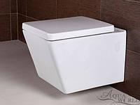 Унитаз подвесной с сиденьем Aqua-World Principial PR-1804+G-006 СфПр.1804 белый