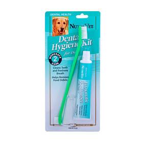 Nutri-Vet Oral Hygiene Kit НУТРИ-ВЕТ НАБОР ДЛЯ ГИГИЕНЫ ПАСТИ для собак, в комплекте - энзимная зубная паста, двусторонняя зубная щетка и зубная щетка