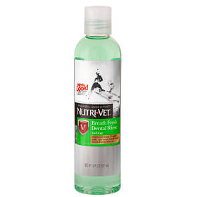 Nutri-Vet Breath Fresh СВЕЖЕЕ ДЫХАНИЕ для собак от зубного налета и запаха из пасти, концентрат, 237 мл