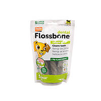 Karlie-Flamingo DENTAL FLOSSBONE флоссбон лакомство для чистки зубов собак,  средний, 15 шт
