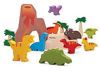 Деревянный игровой набор Plan Тoys Набор динозавриков (6621)