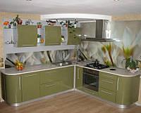 Стеклянная панель на рабочую стенку кухни