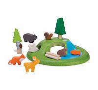 Деревянный игровой набор Plan Тoys Набор лесных животных (6625)