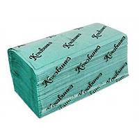 Полотенце бумажное (зеленое) V сложением 170 шт., 1сл. ТМ Каховинка