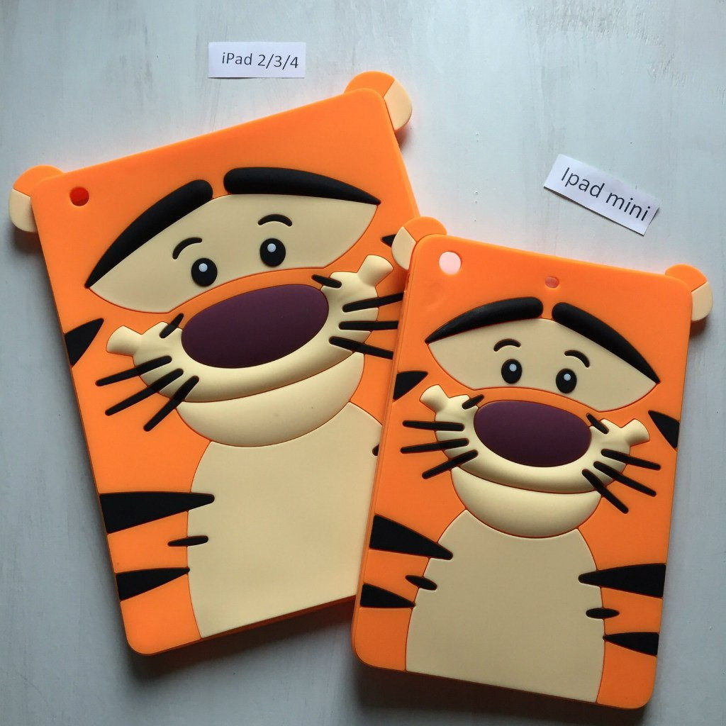 Чехол силиконовый в виде тигра на iPad mini 1/2/3