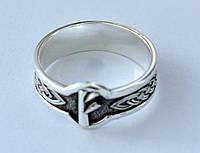 """Серебряное кольцо с руной  """" Феху """""""