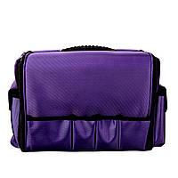 Чемодан для мастера со съемным органайзером, фиолетовый тканевый