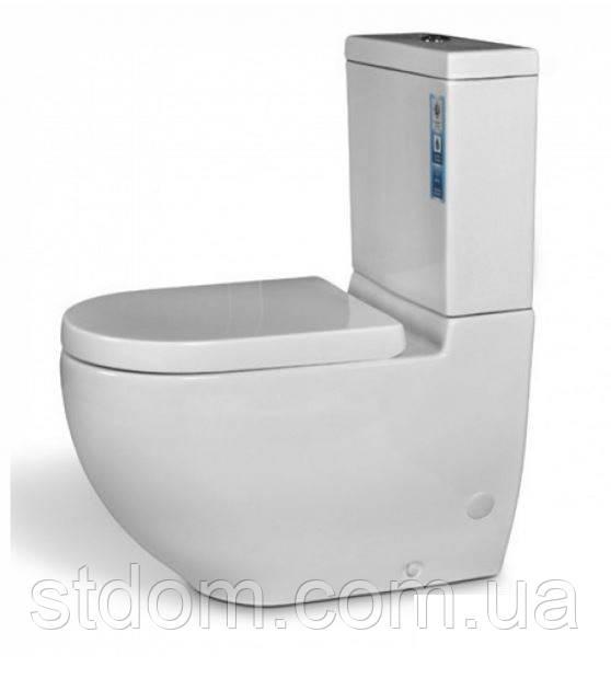 Унитаз напольный с сиденьем+бачок Aqua-World Solo SL-1738+G-008 СфСл.1738 белый
