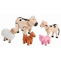 Деревянный игровой набор Plan Тoys Набор сельскохозяйственных животных (7135)
