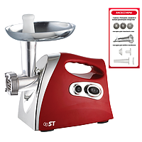 Электромясорубка ST 41-120-05-Красный (1,8 кВт, насадка для томатного сока)