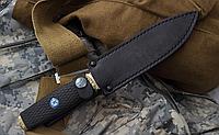Нож с фиксированным клинком  Пограничник-2. Рукоять эластрон