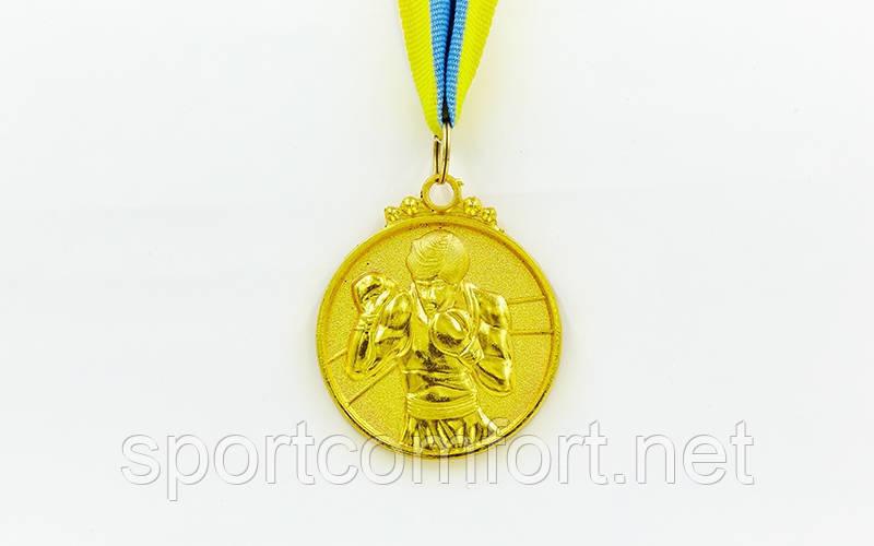 Медаль на ленте Бокс  5 см (1, 2 , 3 место)