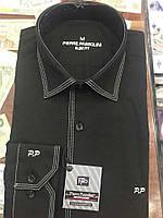 Мужская приталенная рубашка сзади 2 выточки Pierre Pasolini