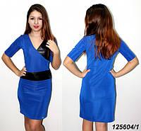Платье с кожаными вставками 42 44 46 48, фото 1