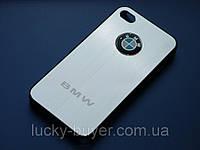 Чехлы для iPhone 4 4S BMW металлические, фото 1