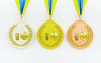 Медаль на ленте Баскетбол 6,5 см, 40 г, двухцветная