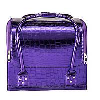 Бьюти Кейс для косметики, фиолетовый лаковый , фото 1