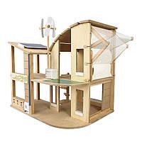 Зеленый кукольный домик Plan Тoys (7155)