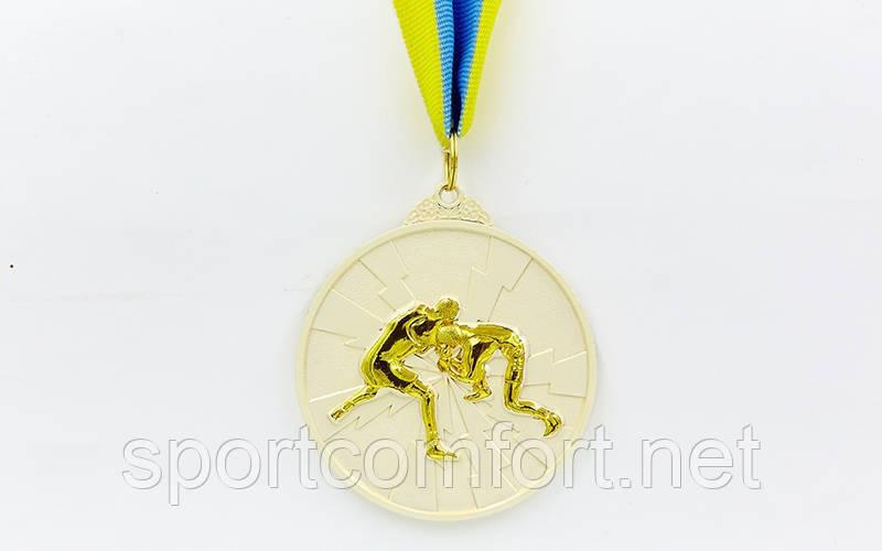 Медаль на ленте Борьба 6,5 см (1, 2, 3 место)